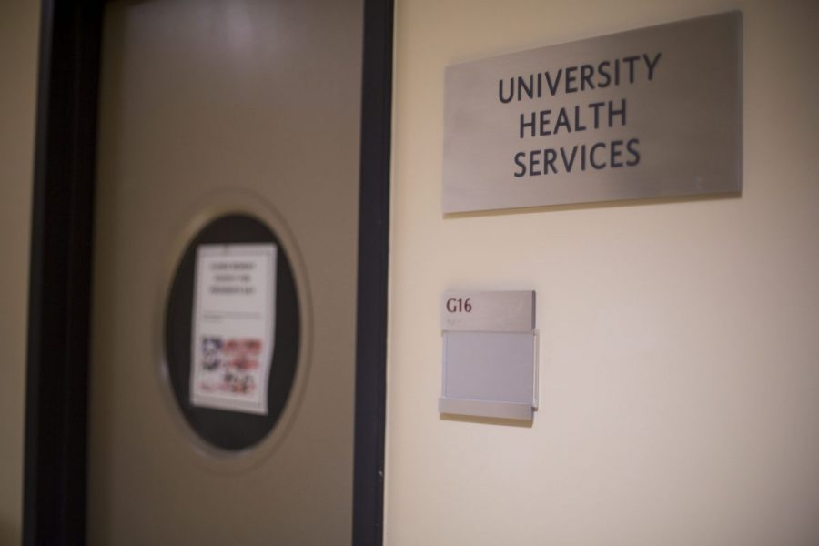 The+door+and+sign+of+university+health+services+at+Lincoln+Center