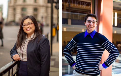 This year's USG candidates, Loreen Ruiz (left) and Robert Stryczek (right), will campaign and debate online.