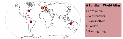 a map of the world with ram-related places marked