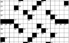 blank crossword grid