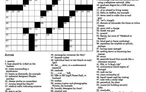 Crossword Issue 6: Whatever Springs to Mind