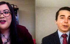 Screen capture of Loreen Ruiz (left) and Robert Stryczek (right) from the debate held via Zoom