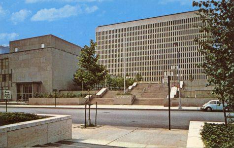 20th century postcard of Fordham Lincoln Center