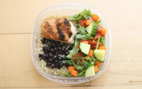 The three main components to focus on in prepping a well-rounded meal are healthy carbs, protein and vegetables.