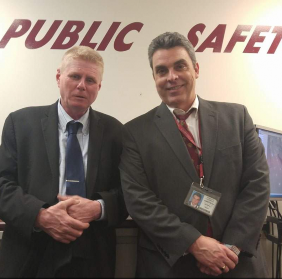 Andy Fasulo (right) and Jim Ruane (left) met each other in 1990 while working for the NYPD. After each retired, they were reunited in 2014 at Fordham Lincoln Center, serving as public safety supervisors.