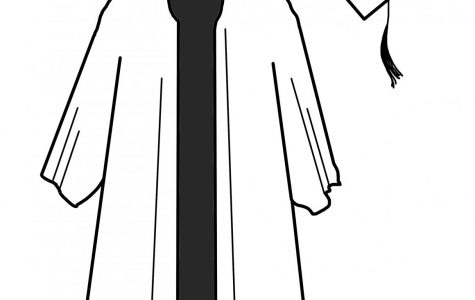 graduation cap and gown coloring page