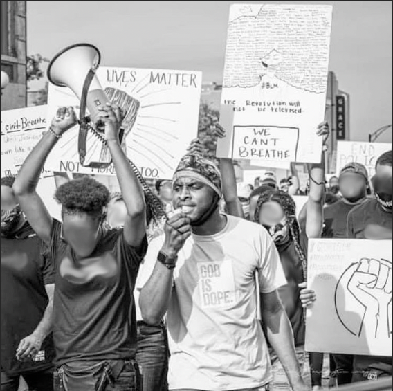 Raekwon Fuller, FCLC '23, attended a peaceful  protest in South Carolina to fight back against systemic racism.