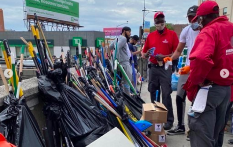 volunteers cleaning up in the bronx