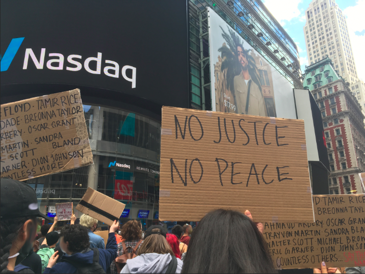 a nyc protest sign