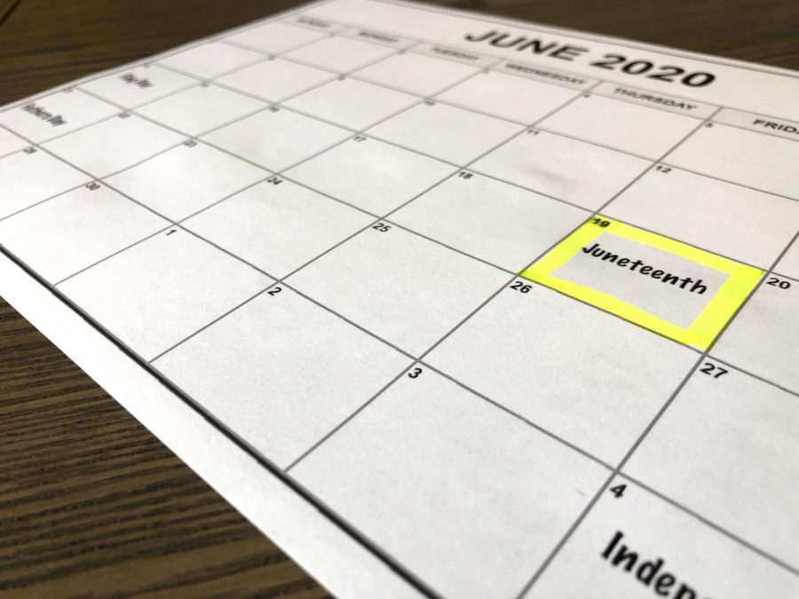 calendar with June 19 circled