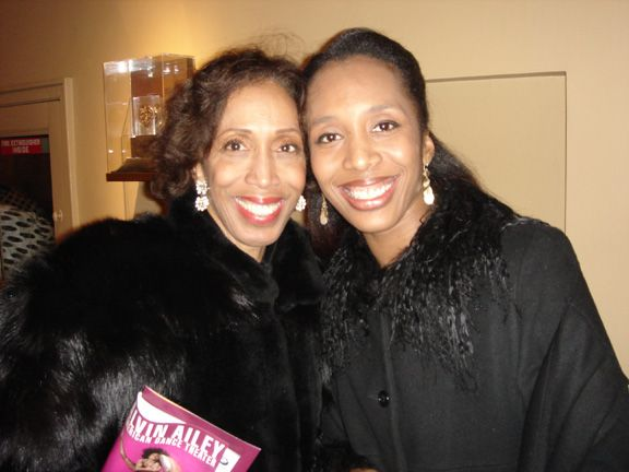 Denise Jefferson (left) and Francesca Harper (right) pose together for a photo