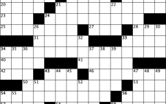 crossed linens blank crossword grid