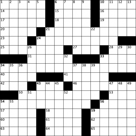 crossed linens blank crossword grid