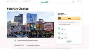 Fordham Road GoFundMe Screenshot