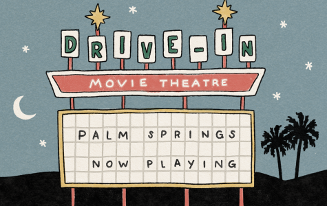 Illustration of drivee-in sign