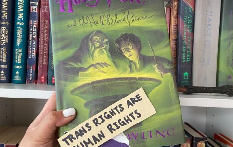 Harry Potter Book with a sticker that says