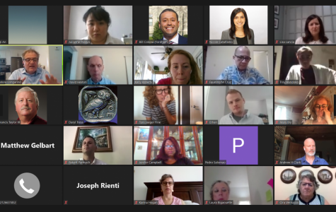 screenshot of people on a zoom call in gallery view