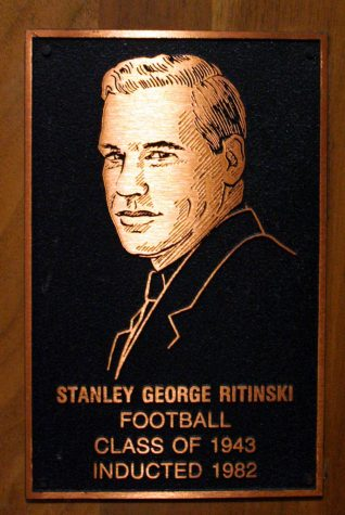 plaque with a portrait of Stanley Ritinski