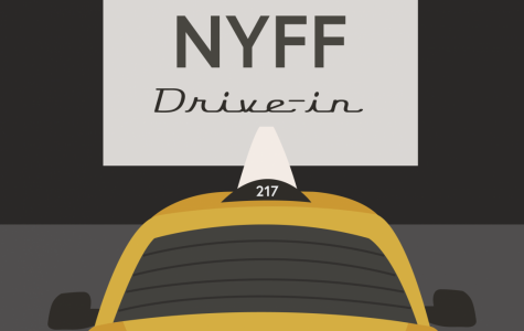 Graphic of taxi at drive in