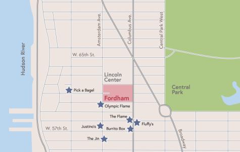 map of UWS restaurants
