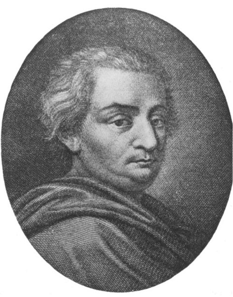 portrait of Cesare Beccaria, who wrote against the death penalty