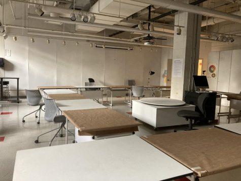 an empty visual arts studio