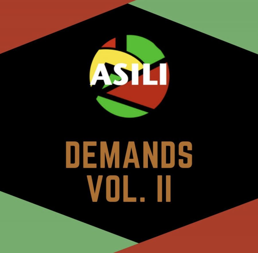 A+graphic+containing+the+ASILI+logo+and+the+words+%22Demands+Volume+Two%22