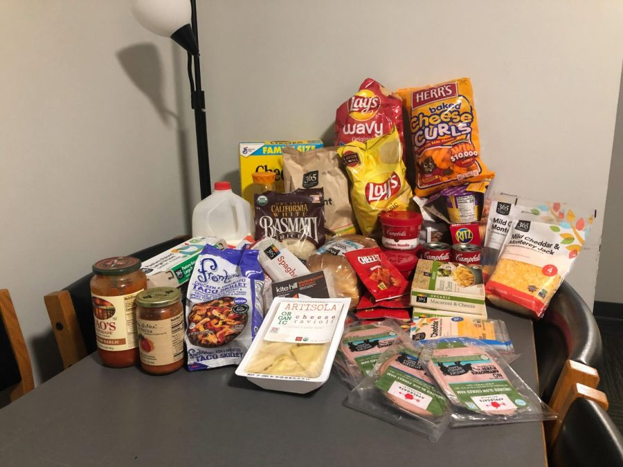 Students quarantining in the dorms were not allowed to leave for any reason after their initial arrival, so they had to buy enough grocieries for two weeks. In McKeon, a food delivery system was put in place.