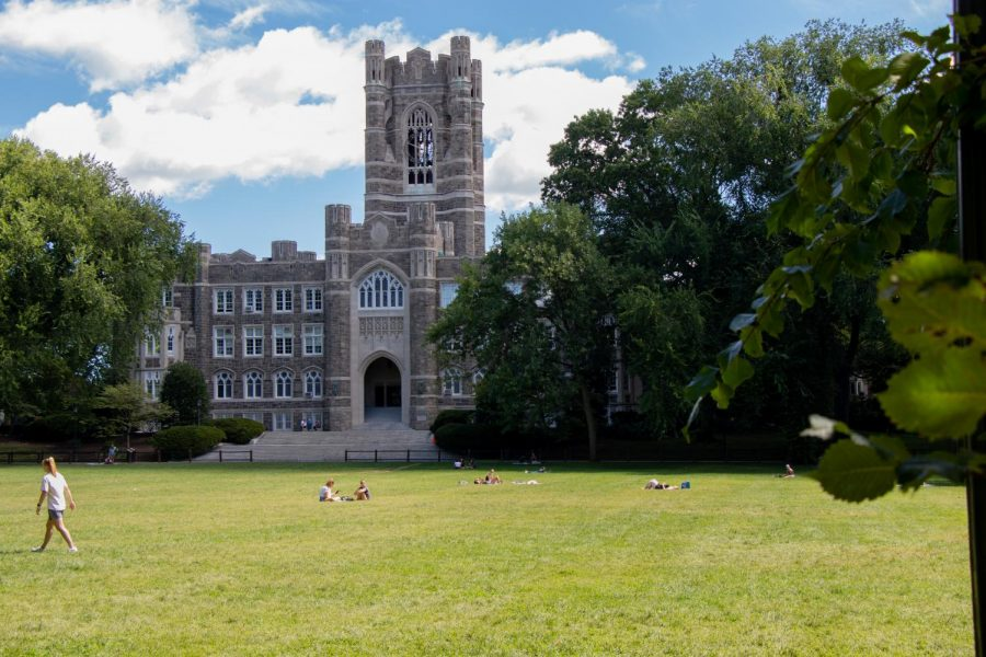 Keating Hall on a sunny day