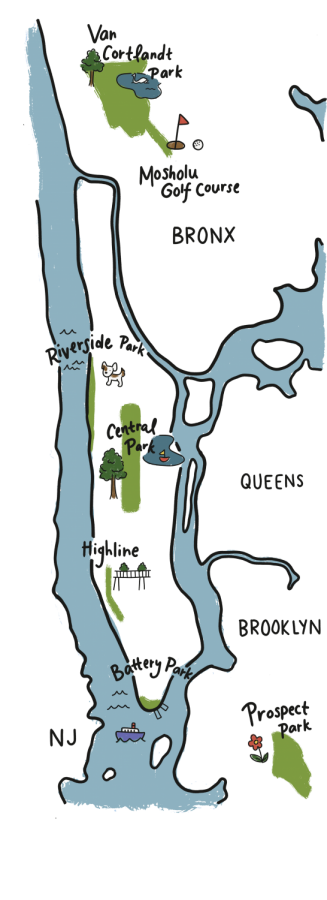 Graphic map of parks