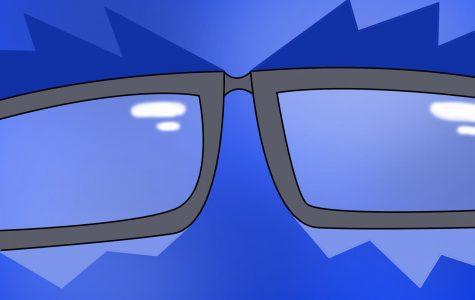 blue light glasses graphic
