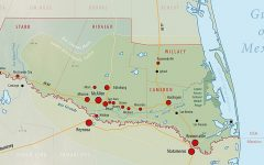 map of rio grande valley (RGV) in texas
