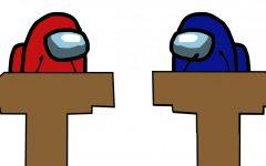 among us avatars on the debate stage