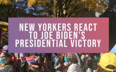 photo of joe biden victory rally with text that says