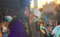 Qween Jean, activist and co-organizer of the Stonewall protests, speaks at one of the events. These protests are led by a group of Black trans women and focus on Black liberation.