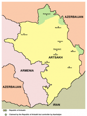 a map of Armenia