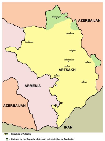 a map of Armenia