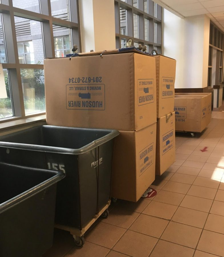 image of moving carts for students leaving campus