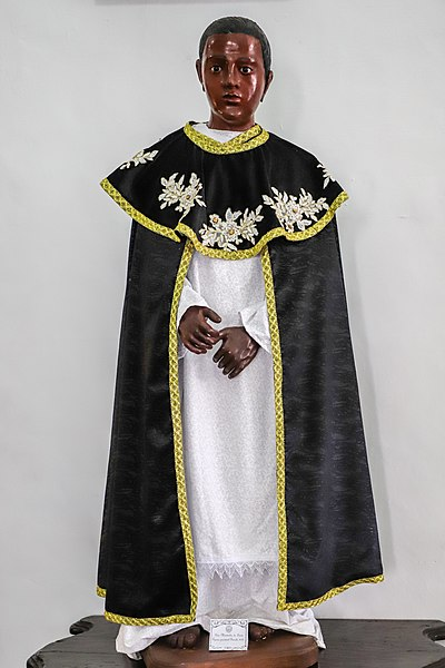 statue of st martin de porres to commemorate Black Catholic History Month