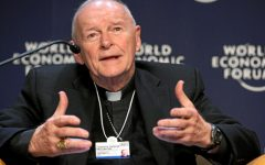 Former Cardinal McCarrick speaking at the World Economic Forum