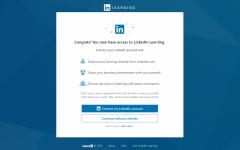 screenshot of linkedin learning landing page