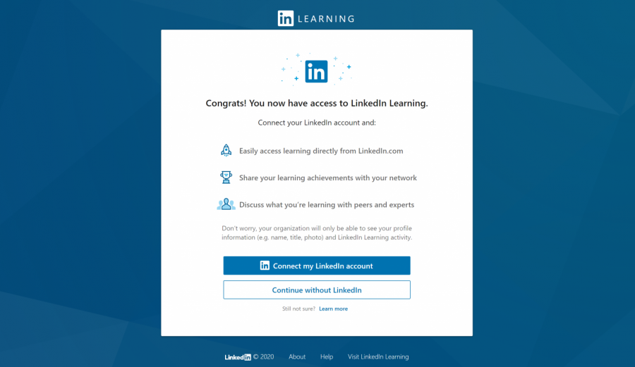 screenshot of linkedin learning landing page
