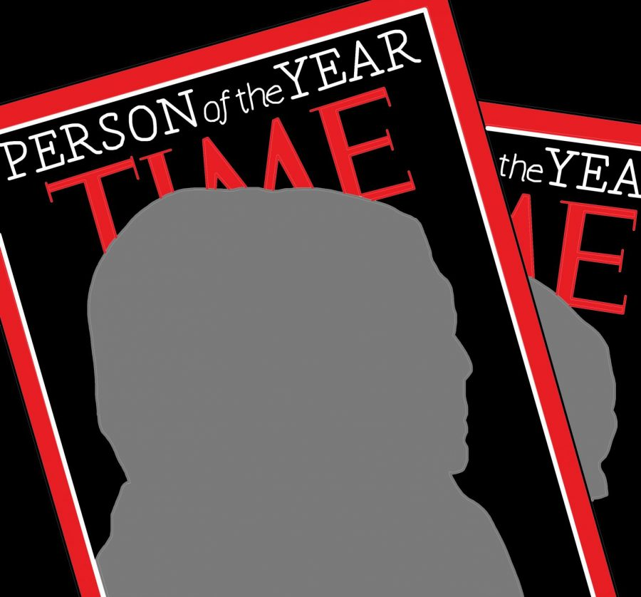 graphic of the cover of time magazine person of the year edition with a gray silhouette where a person should be, signifying it should be undocumented workers