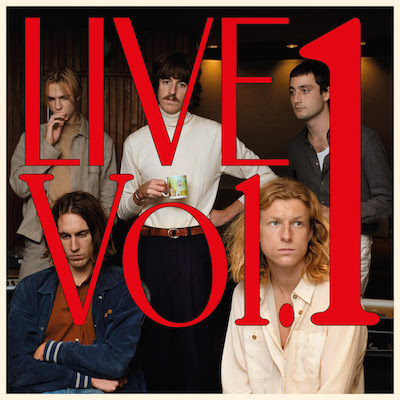 the Live Vol. 1 album cover, a photo of the artists with the title overlayed
