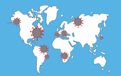 map showing where new covid-19 strains have emerged from