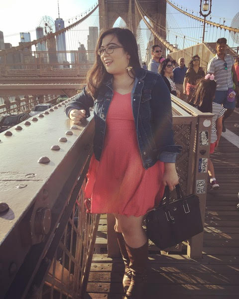 Loreen Ruiz on the Brooklyn Bridge
