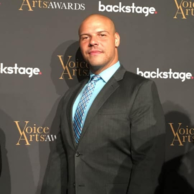 Chad Davis poses at the Voice Arts Awards