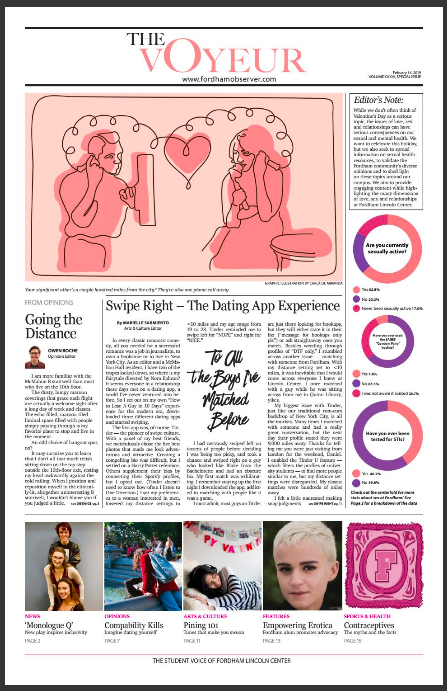 "front page of ""The Voyeur"" Valentine's issue"