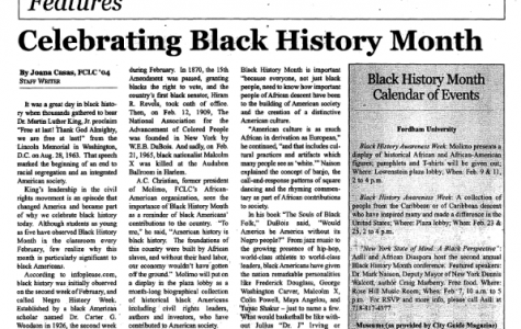 """Celebrating Black History Month"""