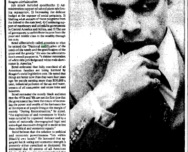 """Julian Bond on Blacks and Rights"""